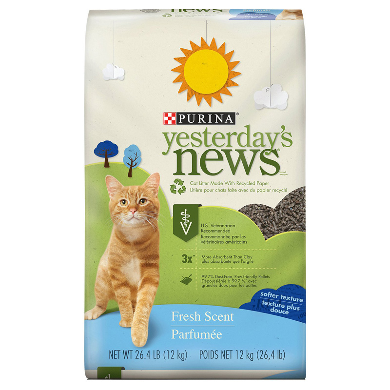 Purina Yesterday's News Non-Clumping Softer Texture Fresh Scent Cat Litter 26.4 lb. 99568