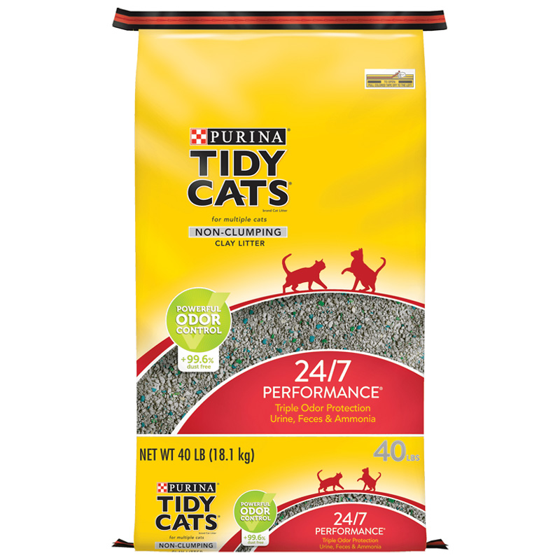 Purina Tidy Cats 24/7 Performance Non-Clumping Cat Litter 40 lb. I001722