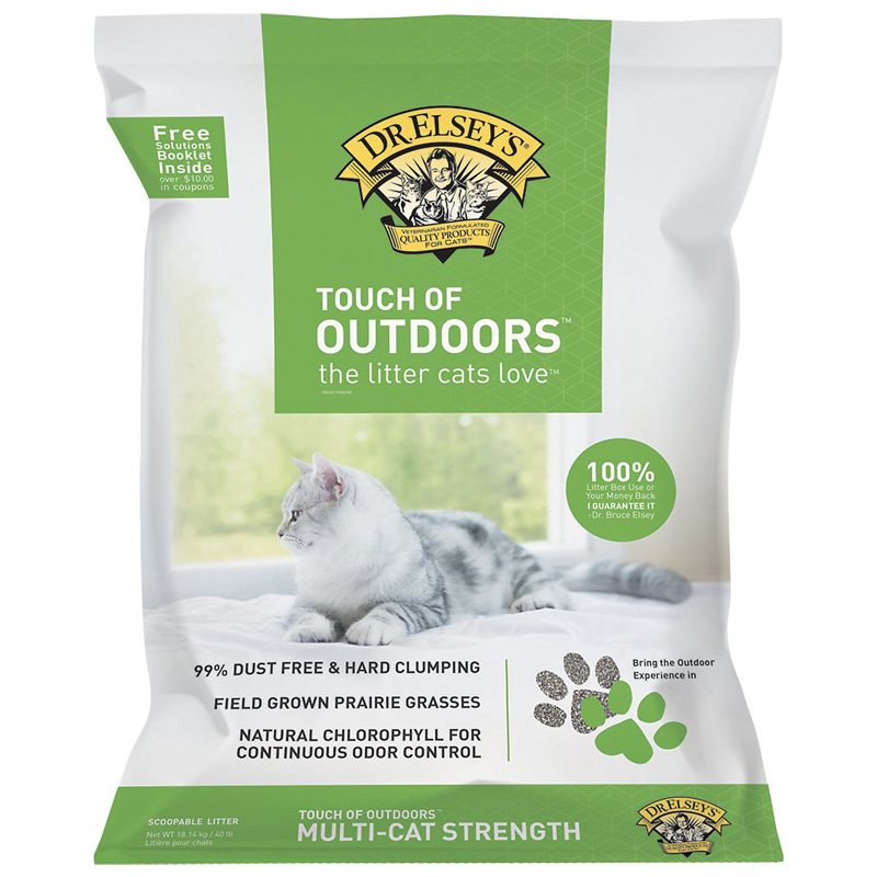 Dr.Elsey's Precious Cat Touch Of Outdoors Multi-Cat Strength Litter 40 lb. I005240