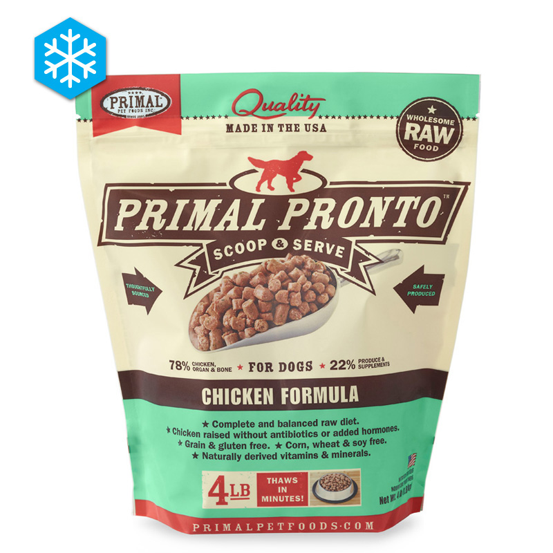Primal Pronto Scoop & Serve Wholesome Raw Chicken Formula for Dogs 4 lb. I005430