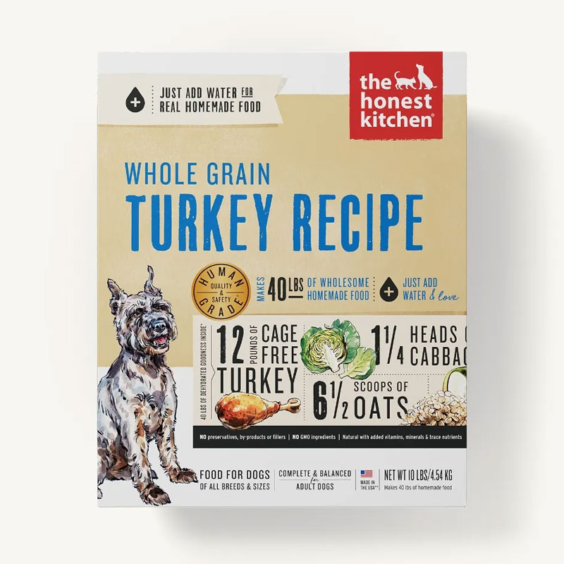 The Honest Kitchen Whole Grain Turkey Recipe Dehydrated Dog Food I006689b