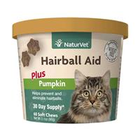 NaturVet® Hairball Aid Plus Pumpkin Cat Soft Chews for Cats 60ct I007835