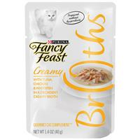 Fancy Feast Complement Tuna, Chicken, and Whitefish in a Decadent Silky Broth 1.4oz Pouch I007872