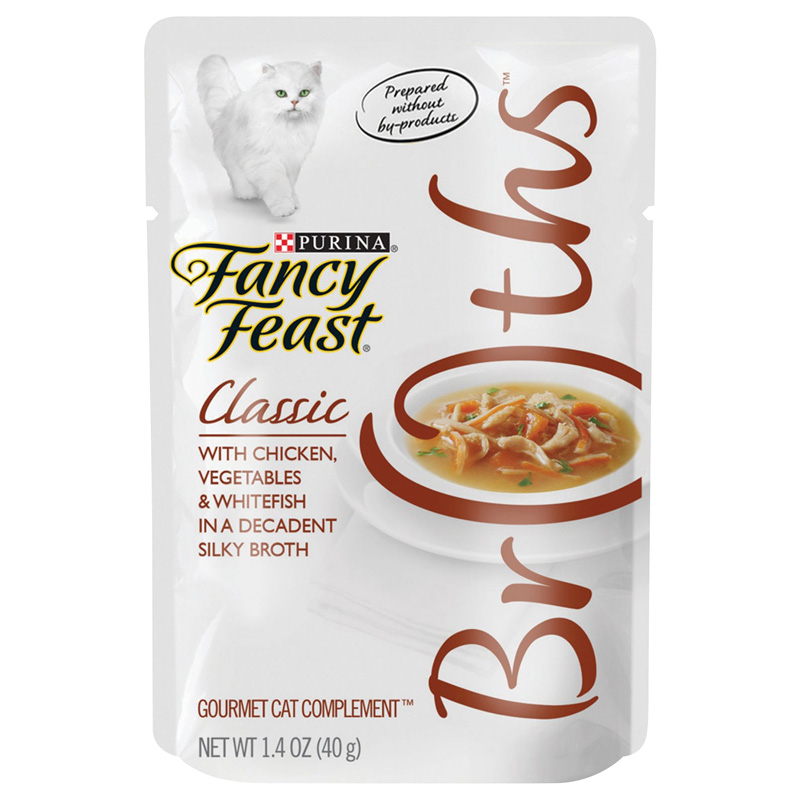 Fancy Feast Complement Chicken, Vegetables, and Whitefish in a Decadent Silky Broth 1.4oz Pouch I007874