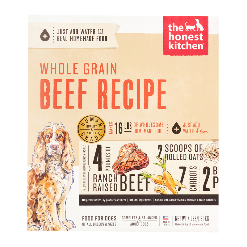 The Honest Kitchen Whole Grain Beef Recipe  I013163b