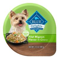 Blue Buffalo Blue Delights Grain-Free Filet Mignon Flavor in Gravy 3.5 oz. I014783