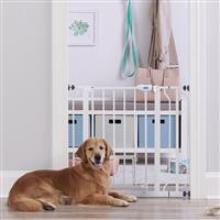 Carlson Extra Wide Walk Thru Gate with Small Pet Door I015643