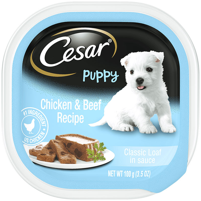 Cesar's Chicken and Beef Puppy Food I016134