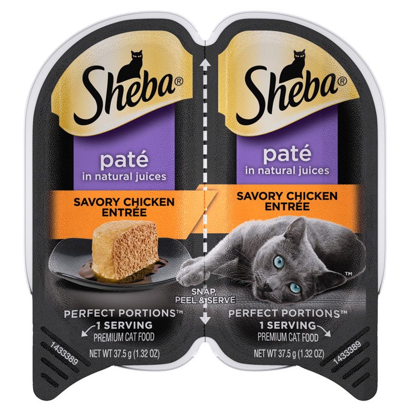 Sheba Perfect Portions Premium Pate Savory Chicken Entree 2pk I016160