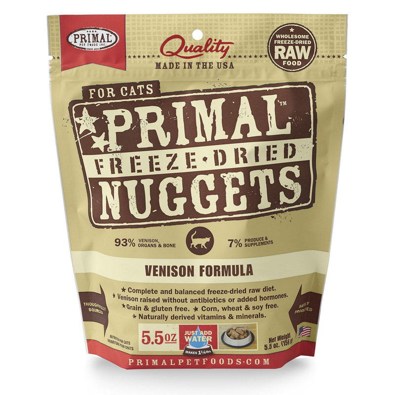 Primal Freeze Dried Nuggets for Cats Venison Formula 5.5 oz. I016673
