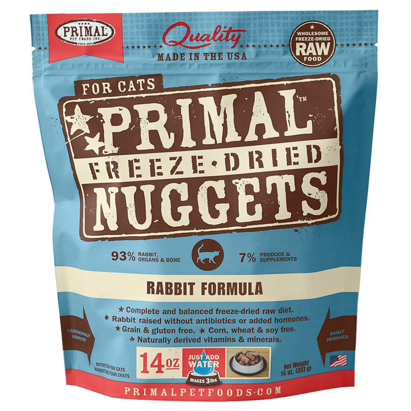 Primal Freeze Dried Nuggets for Cats Rabbit Formula I016674b