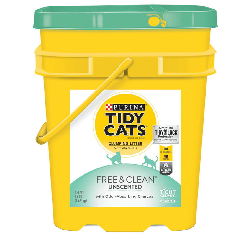 Purina Tidy Cats Free & Clean Clumping Cat Litter 35 lb. I017215