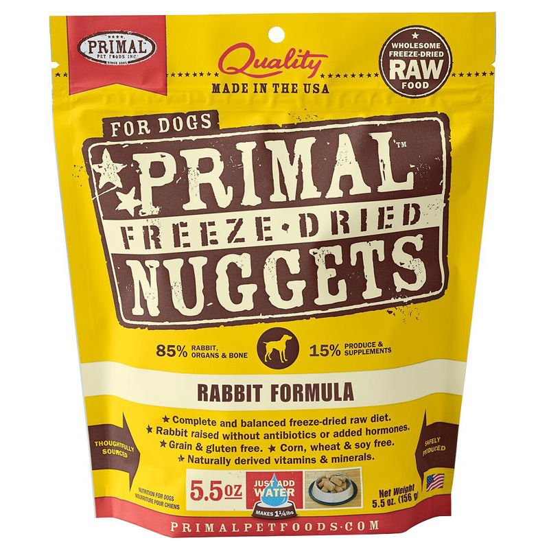Primal Freeze Dried Nuggets for Dogs Rabbit Formula I017775b