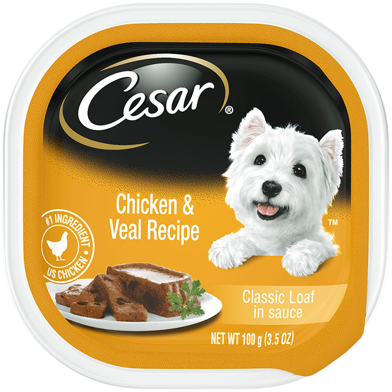 Cesar's Chicken and Veal Dog Food I018367