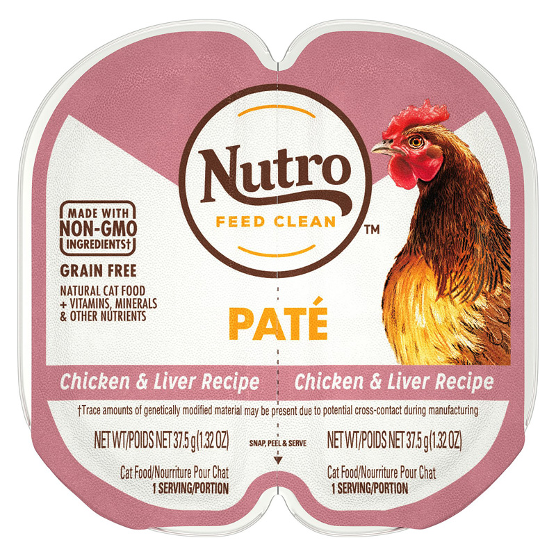 Nutro Perfect Portions Chicken & Liver Pate Adult Cat Food I018415