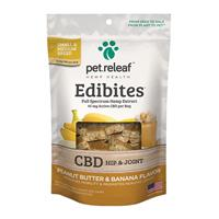 Pet Releaf Edibites Peanut Butter & Banana Dog Chew I020001b