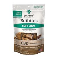 Pet Releaf Edibites Peanut Butter & Carob Swirl Soft Chews for Large Breed Dogs 7.5 oz. I020006