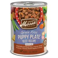 Merrick Grain-Free Real Puppy Plate Beef Recipe in Gravy 12.7 oz. I021131