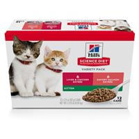 Hill's Science Diet Variety Pack Kitten Liver & chicken & Savory Salmon  I021413
