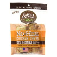 "Earth Animal No-Hide 4"" Chicken Recipe Dog Chews 2pk I021448"