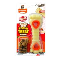 Nylabone Power Chew Knuckle Bone & Pop-In Treat Toy Combo I021549b