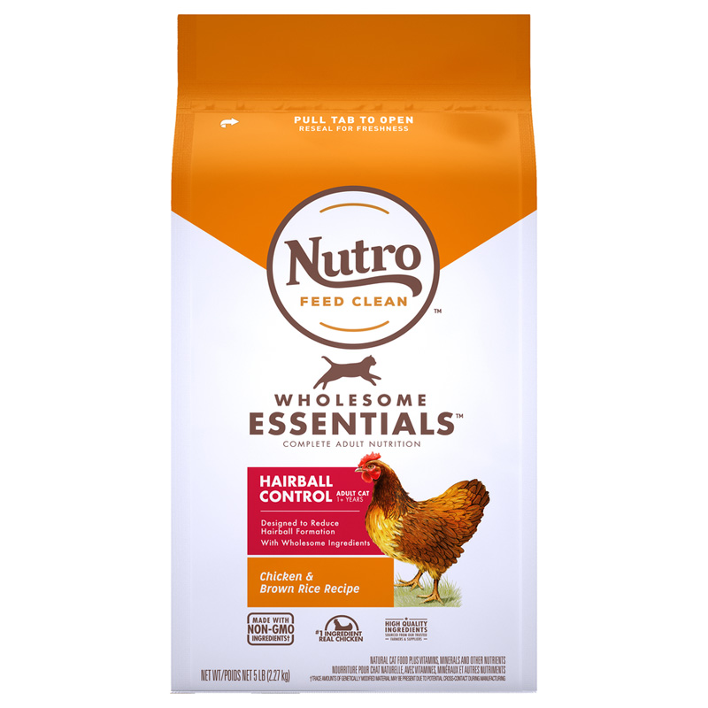 Nutro Wholesome Essentials Hairball Control Adult Farm-Raised Chicken & Brown Rice Recipe I021856