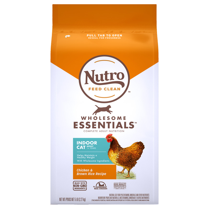 Nutro Wholesome Essentials Indoor Adult Farm-Raised Chicken & Brown Rice Recipe 5 lbs. I021857