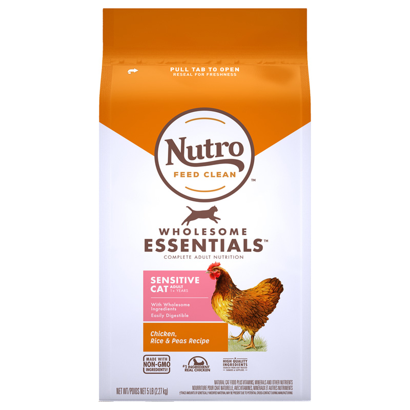 Nutro Wholesome Essentials Sensitive Cat Chicken, Rice and Peas Recipe I021859