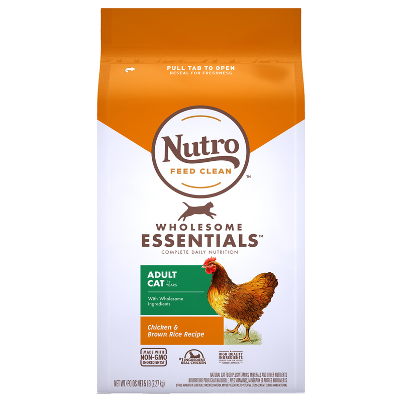 Nutro Wholesome Essentials Adult Cat Chicken & Brown Rice Recipe 5 lbs. I021860