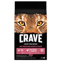 CRAVE Grain-free Chicken & Salmon Fish Indoor Adult Dry Cat Food I021900