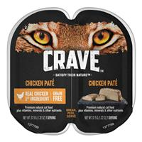 CRAVE Grain-free Chicken Pate Perfect Portions Adult Wet Cat Food 2.6 oz. I021903