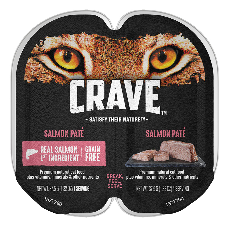 CRAVE Grain-free Salmon Pate Perfect Portions Adult Wet Cat Food 2.6 oz. I021904