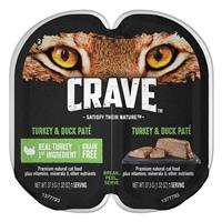 CRAVE Grain-Free Turkey & Duck Pate Perfect Portions Adult Wet Cat Food 2.6 oz. I021905