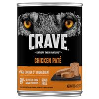 CRAVE Grain-Free Chicken Pate Adult Wet Dog Food 12.5 oz. I021919