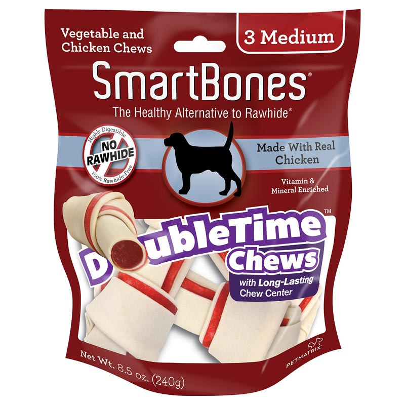 Smart Bones Smart DoubleTime Chews Chicken Medium 3pk I021939