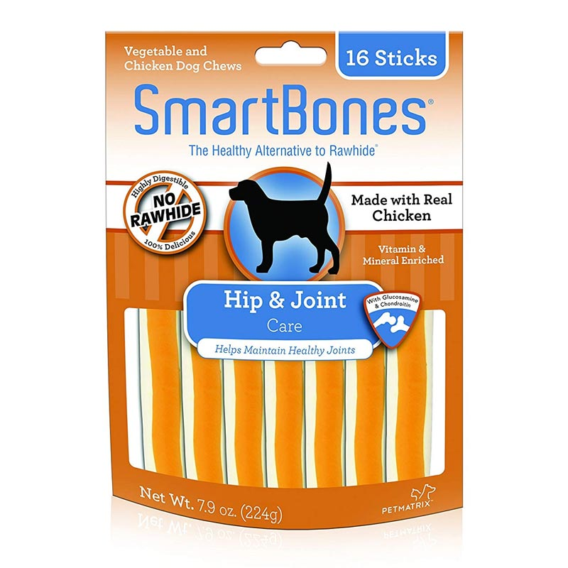 SmartBones Chews Hip & Joint Care Vegetable & Chicken 16pk I021943