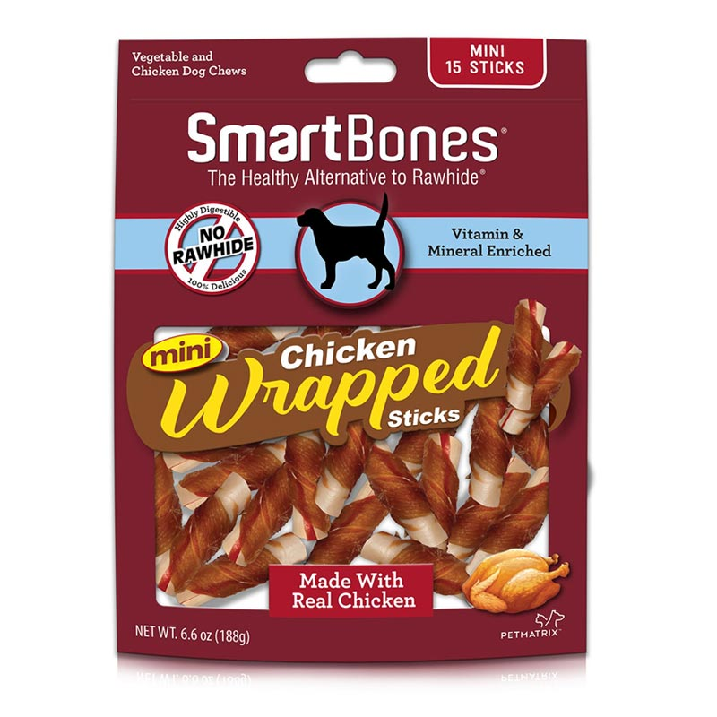 SmartBone Chicken Wrapped Sticks with Vegetable 15pk I021954