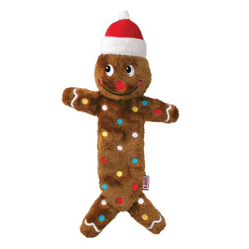 KONG Low Stuff Speckles Gingerbread Man Holiday Dog Toy I022099