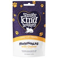 Simply Kind Hearted Munchables with Cheese Daily Cat Treats 1.4 oz. I022125