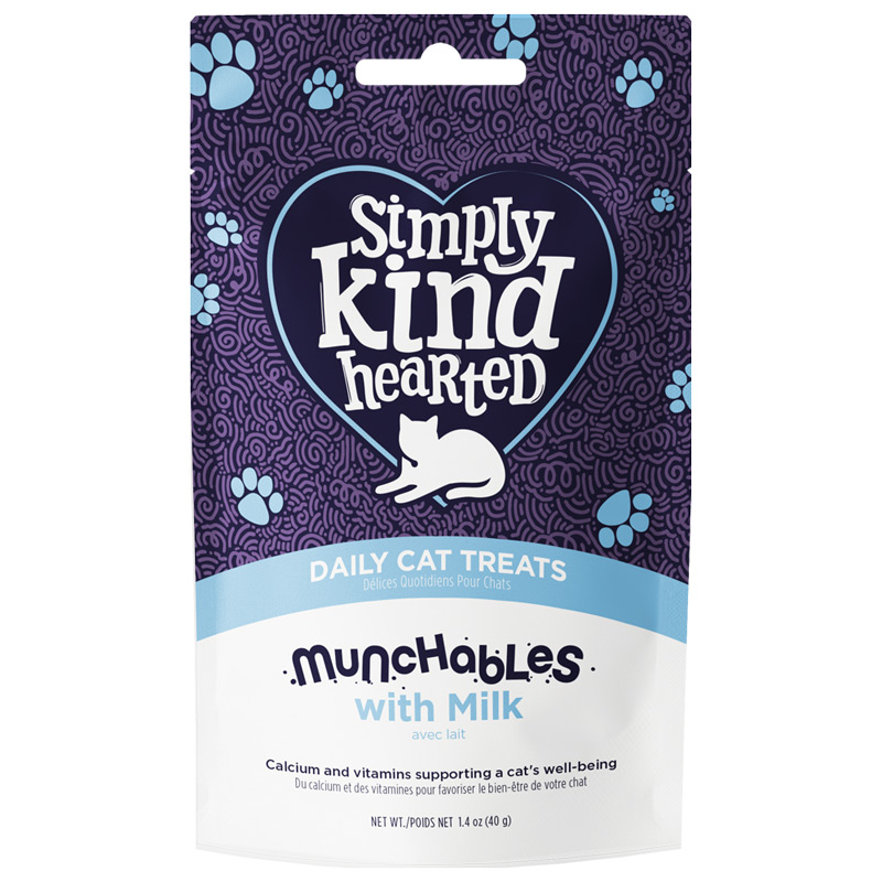 Simply Kind Hearted Munchables with Milk Daily Cat Treats 1.4 oz. I022127