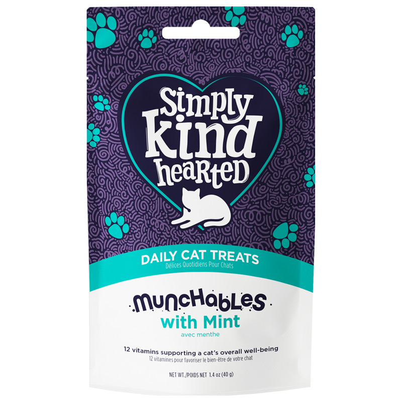 Simply Kind Hearted Munchables with Mint Daily Cat Treats 1.4 oz. I022128