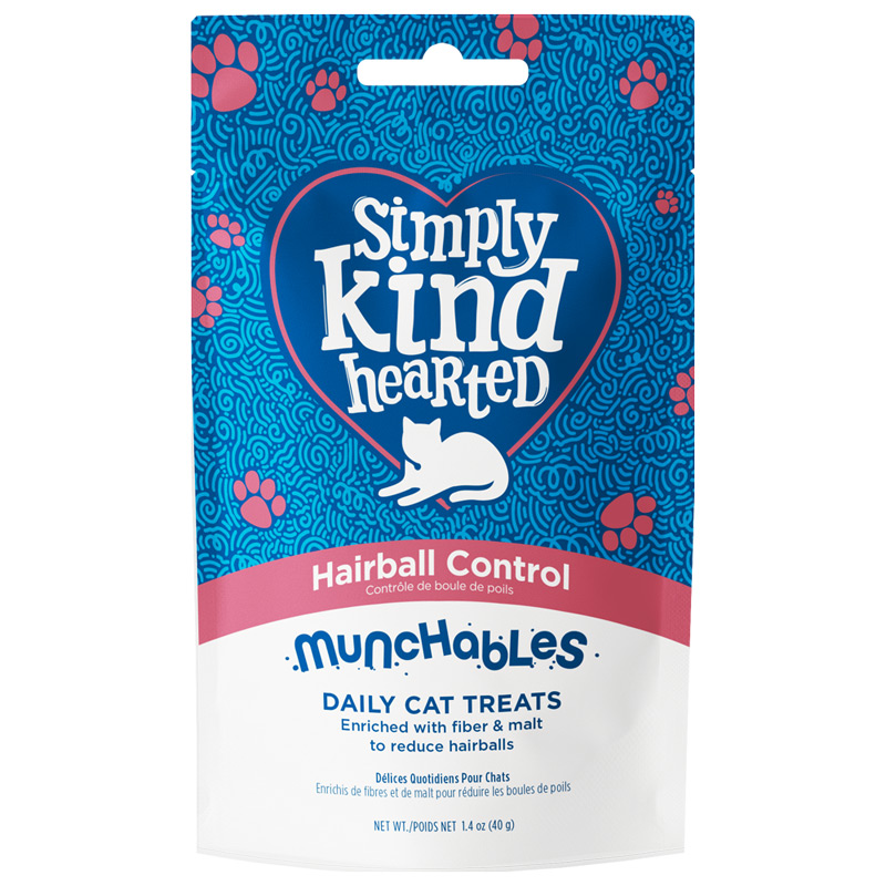 Simply Kind Hearted Hairball Control Munchables Daily Cat Treats 1.4 oz. I022129