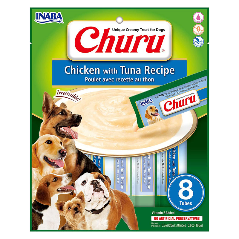 Inaba Dog Churu Chicken With Tuna Recipe 8pk I022188