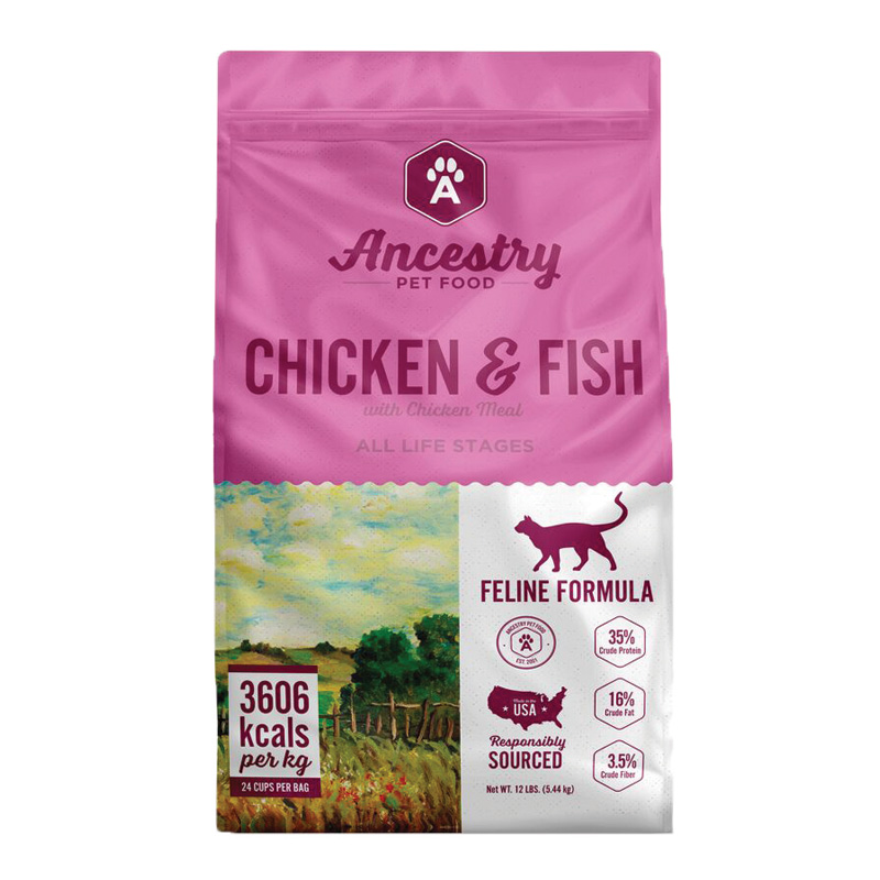 Ancestry Chicken & Fish Feline Formula Dry Food I022263b