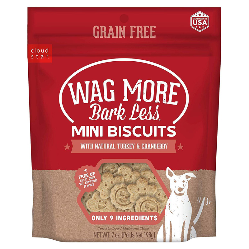 Cloud Star Wag More Bark Less Mini Biscuits with Turkey & Cranberry 7 oz I022268