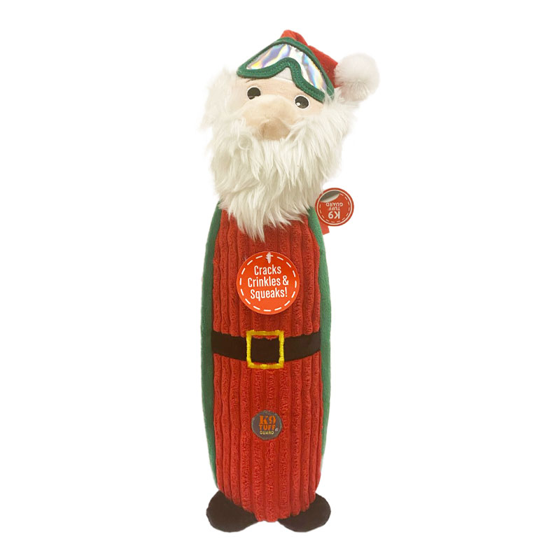 Charming Pet Santa Bottle Bros Holiday Dog Toy I022496