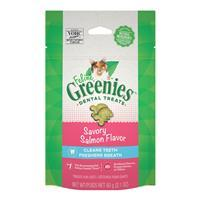 Feline Greenies Dental Treats Savory Salmon Flavor I022743b