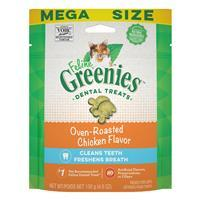 Feline Greenies Dental Treats Oven Roasted Chicken Flavor I022746b