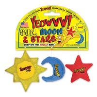 Yeowww! Sun, Moon and Stars Catnip Toy I022821