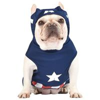 Fetch for Pets Hooded Captain America Hooded Costume  I022912b